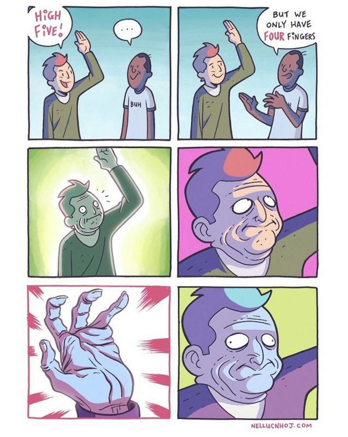 Four finger death punch - meme