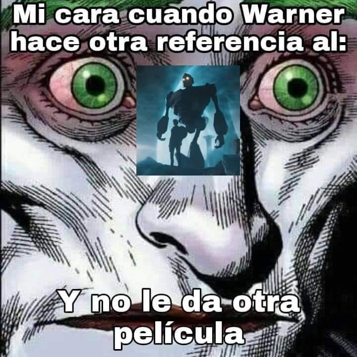 Ahora Warner lo trata como si fuera de culto cuando en el pasado ni se molesto en darle promocion - meme