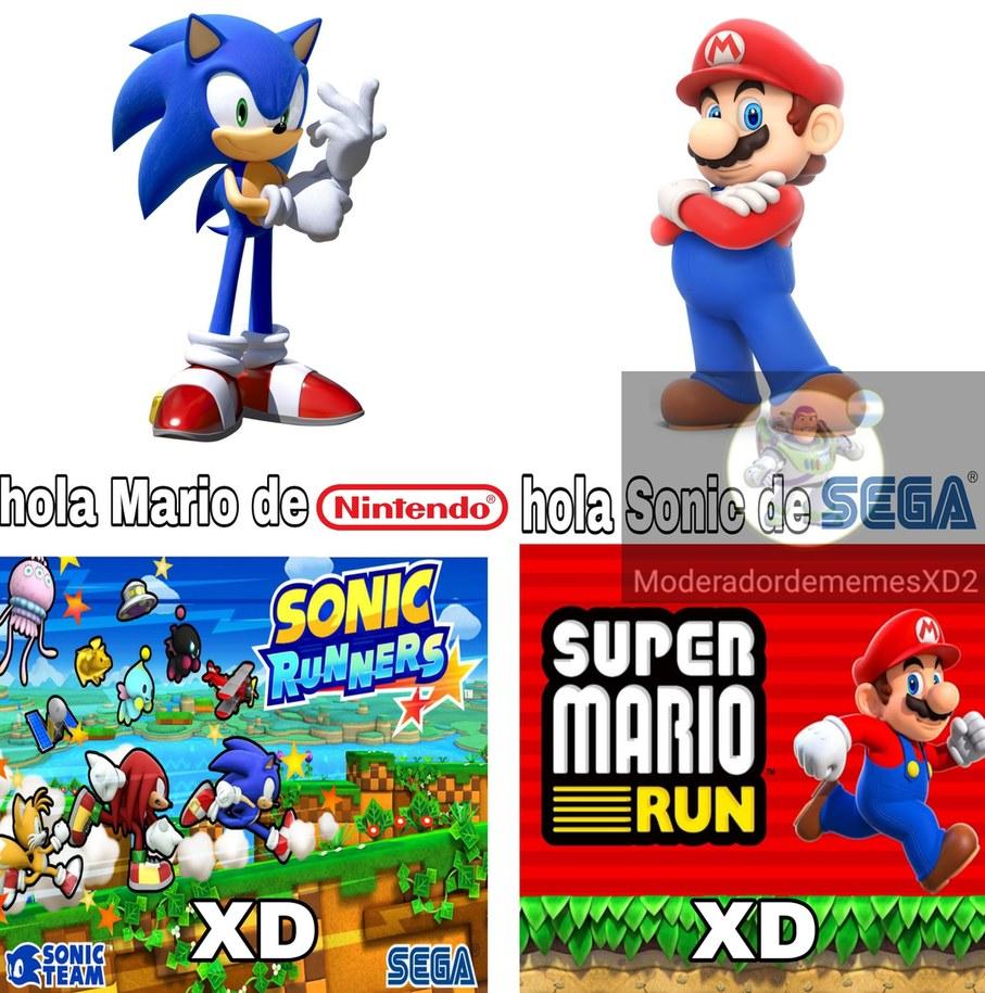 Aunque a mí me gusta más el Sonic runners - meme