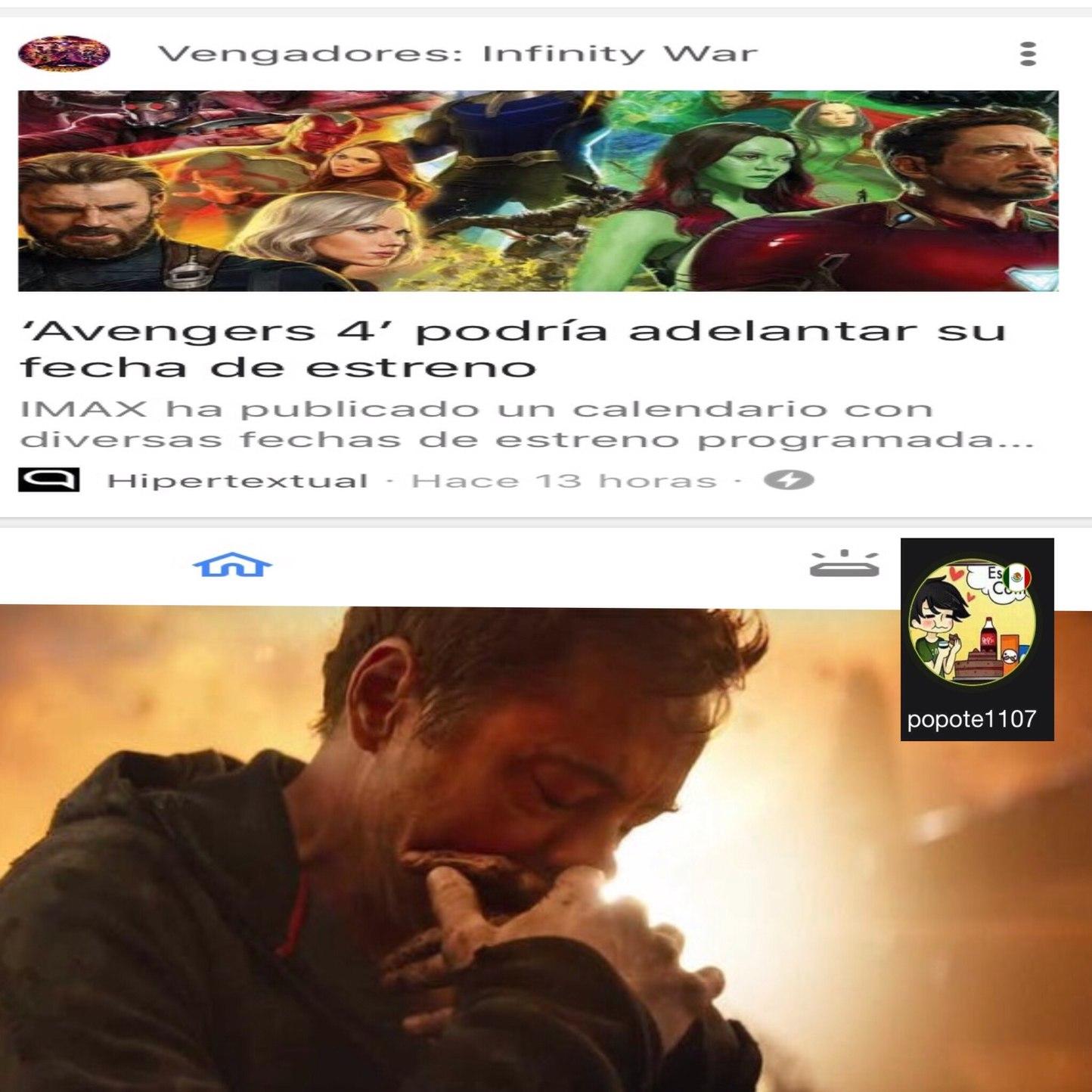 noooo pobre Tony - meme