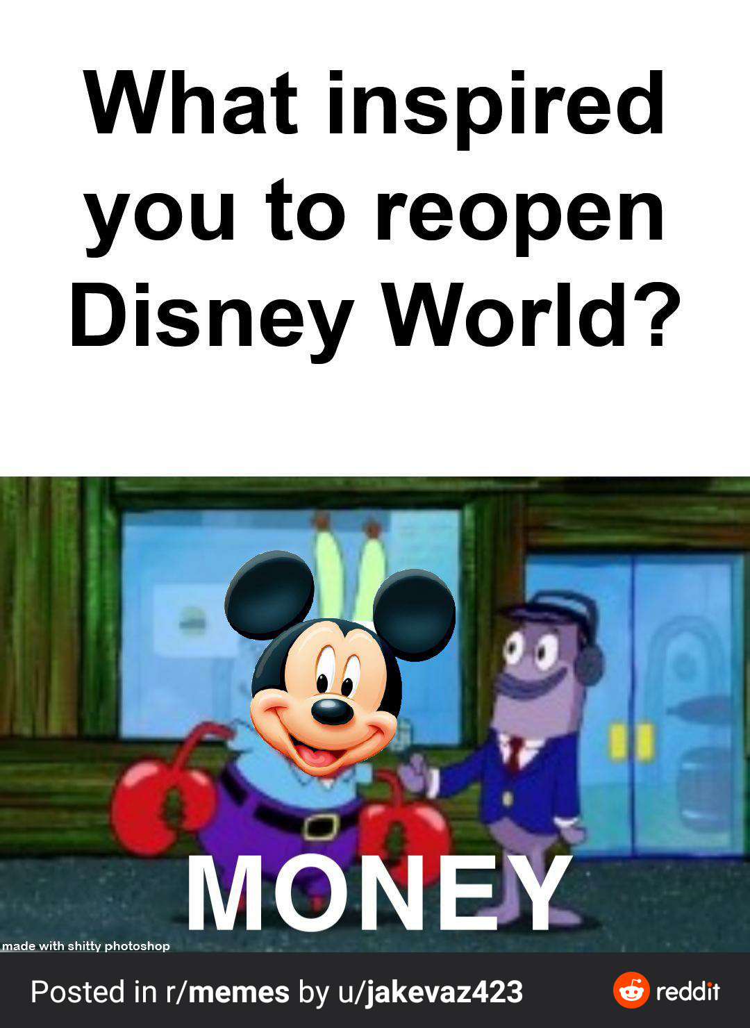 Disney Like Money - meme