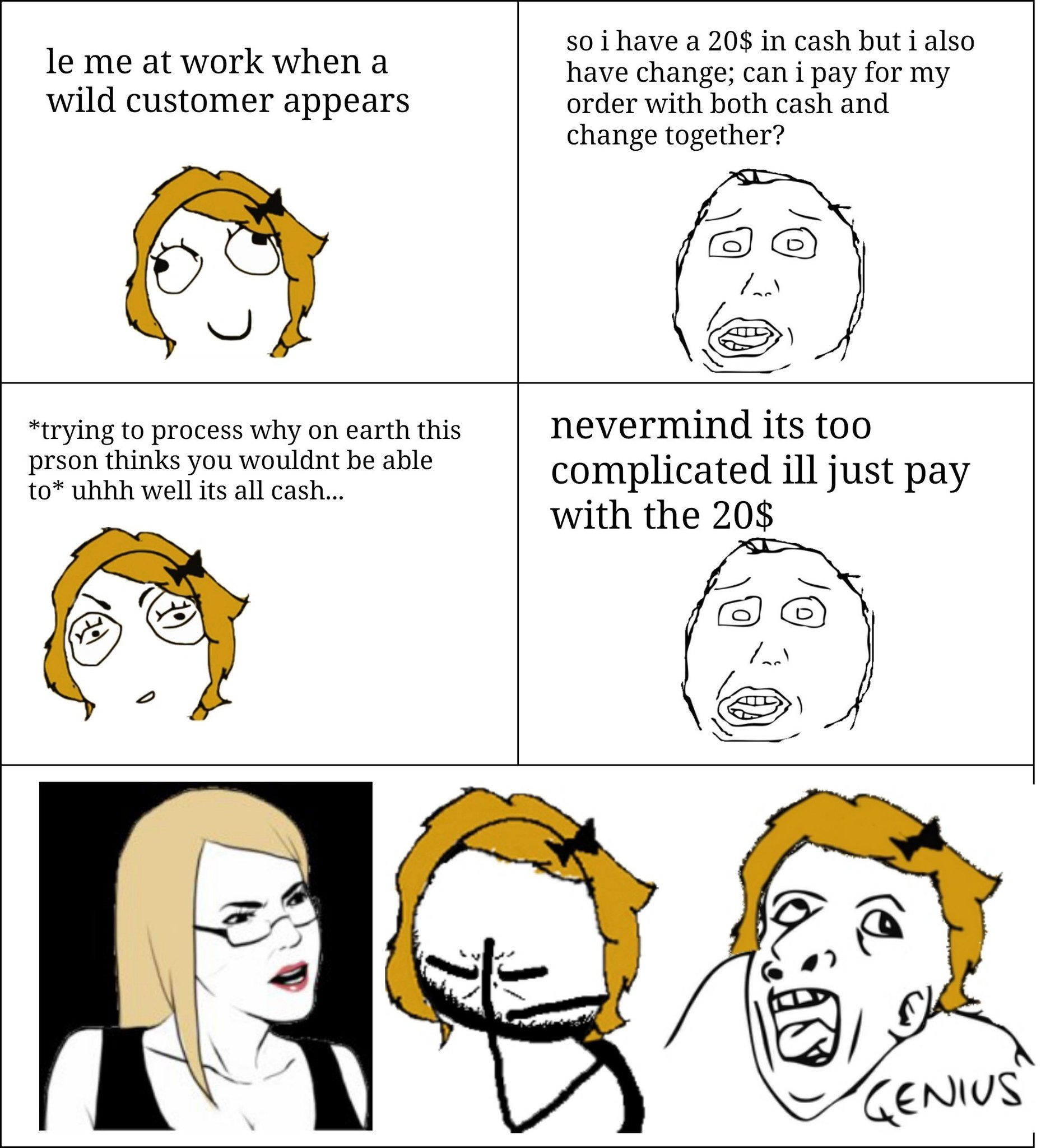 My first attempt at making a rage comic because I'm still laughing at this ridiculous interaction - meme