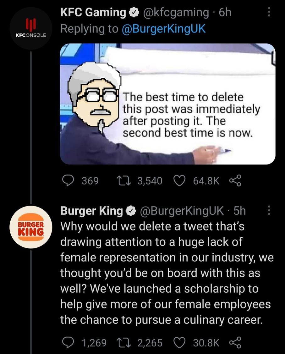 KFC vs Burger King - meme