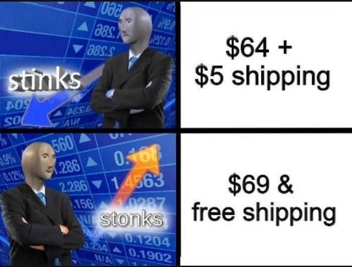 Online shopping be like - meme