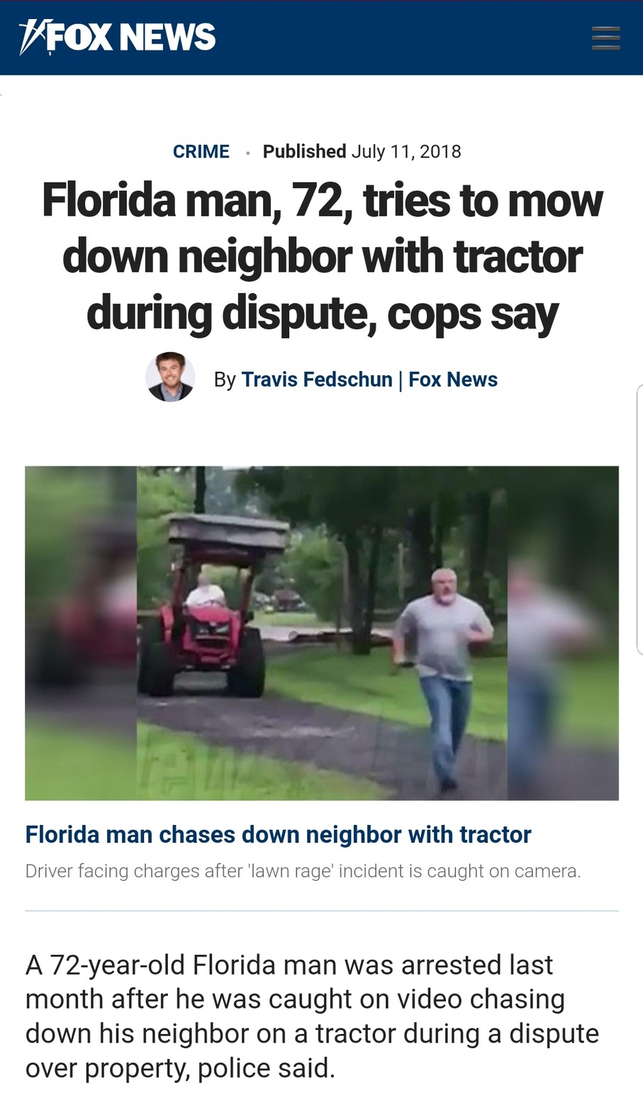Florida Man strikes again - meme