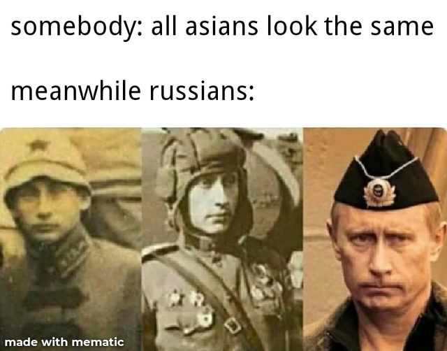 All Russians look the same - meme