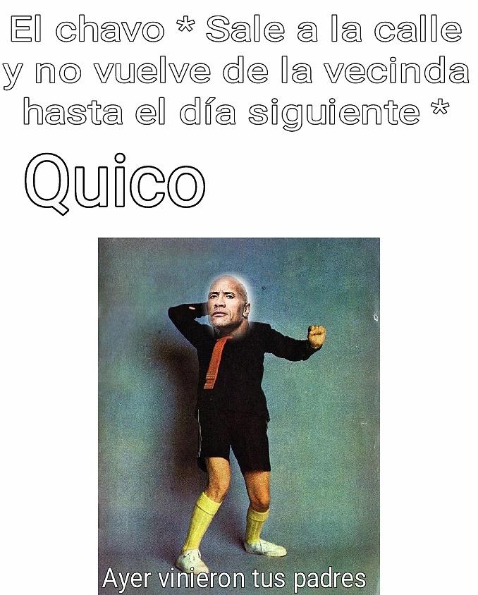 Ayer vinieron Chavito - meme