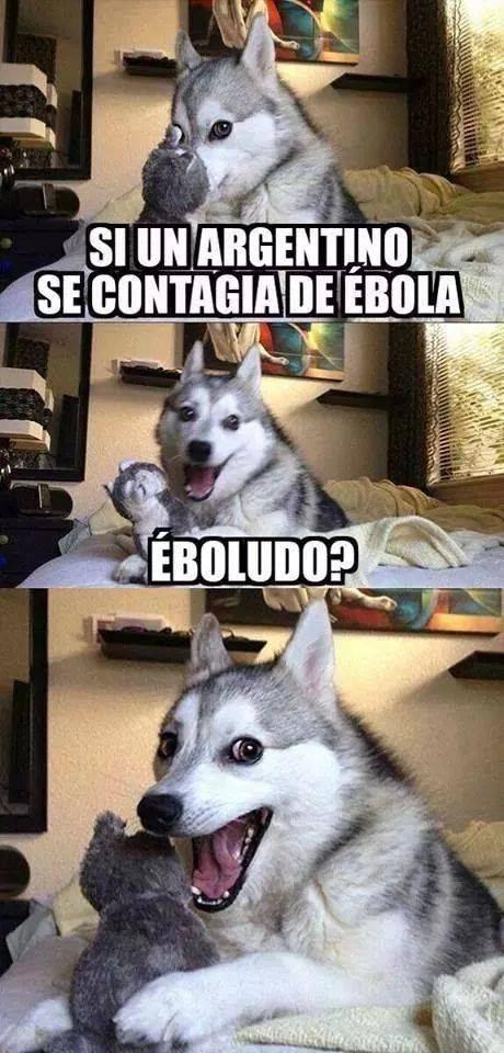 Ébola y sus chistes - meme