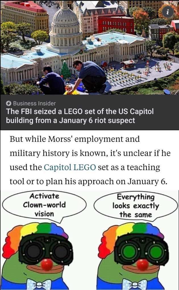 Imagine being so pathetic you seize someone's Lego set for such a thing - meme