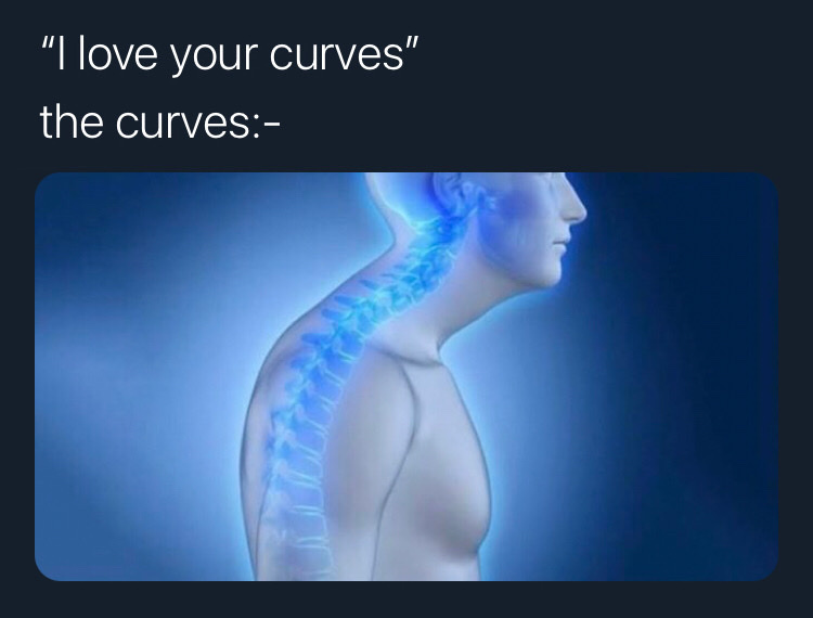 out of all the curves on your body, your smile is my favourite - meme