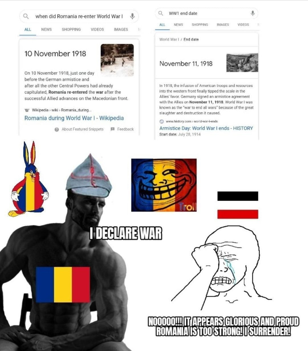 The real reason the Central Powers lost WWI - meme