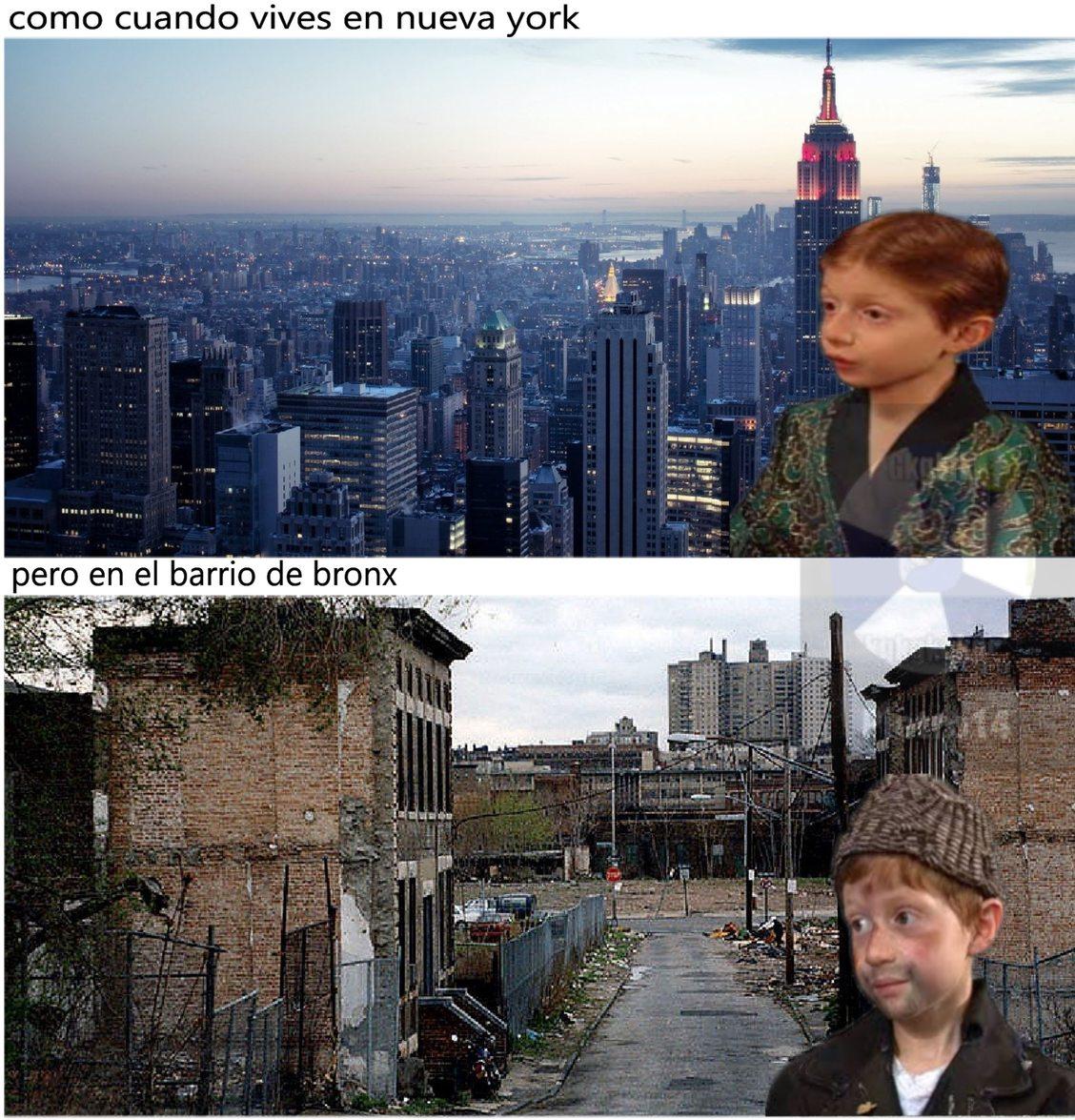 nueva york rica y pobre - meme