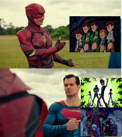 flash:no hay mejor crossover de ben 10 superman:que este que decias p*to - meme