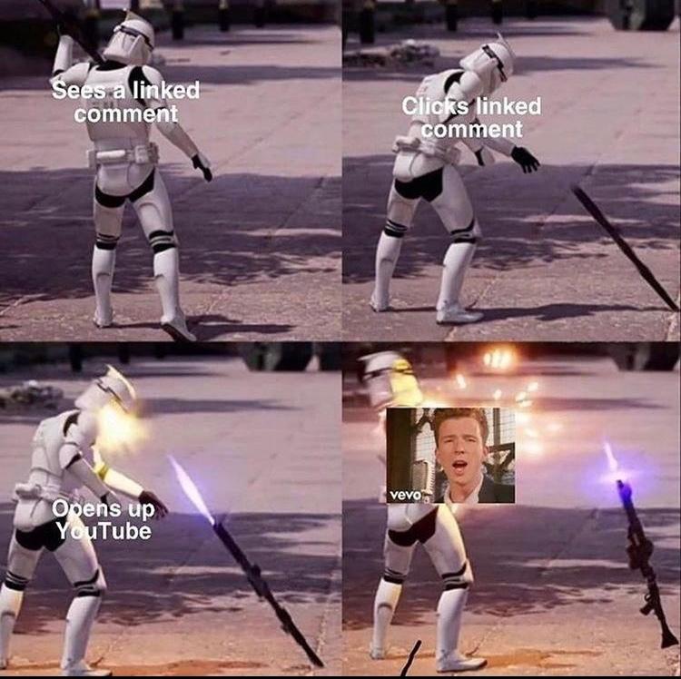 Rick rolled - meme