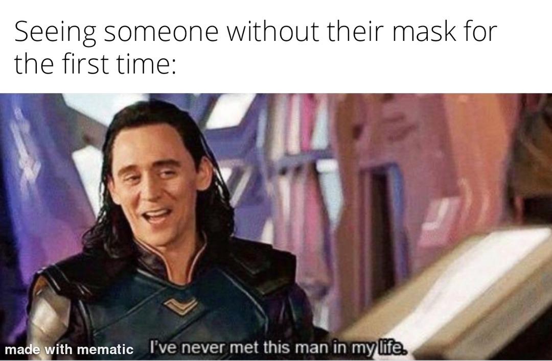 Weird no masks - meme