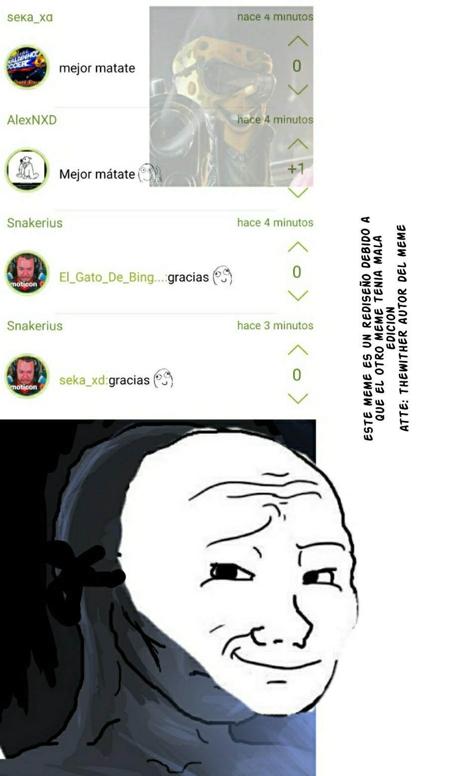 Perdon por la edicion mala - meme