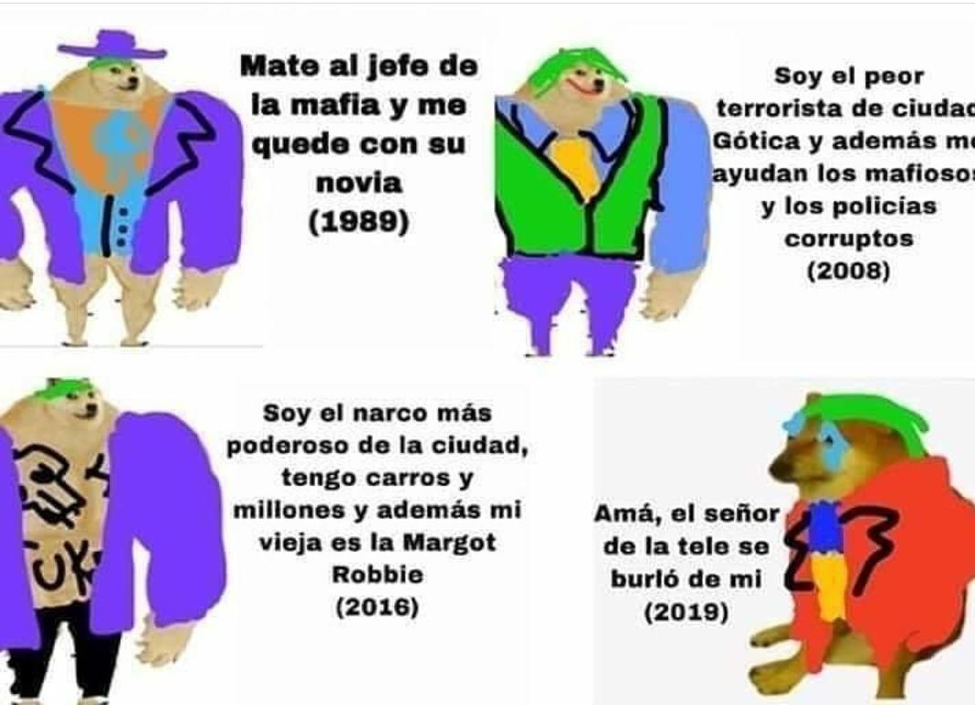 El jajas de Joaquín fénix es un acomplejado. - meme
