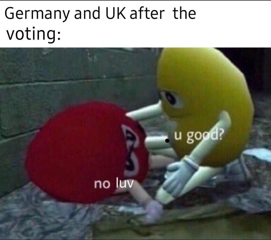UK made a mistake coming back onto eurovision - meme