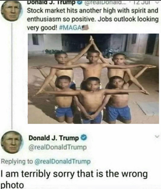 Niños haciendo la estrella de david lptmr - meme