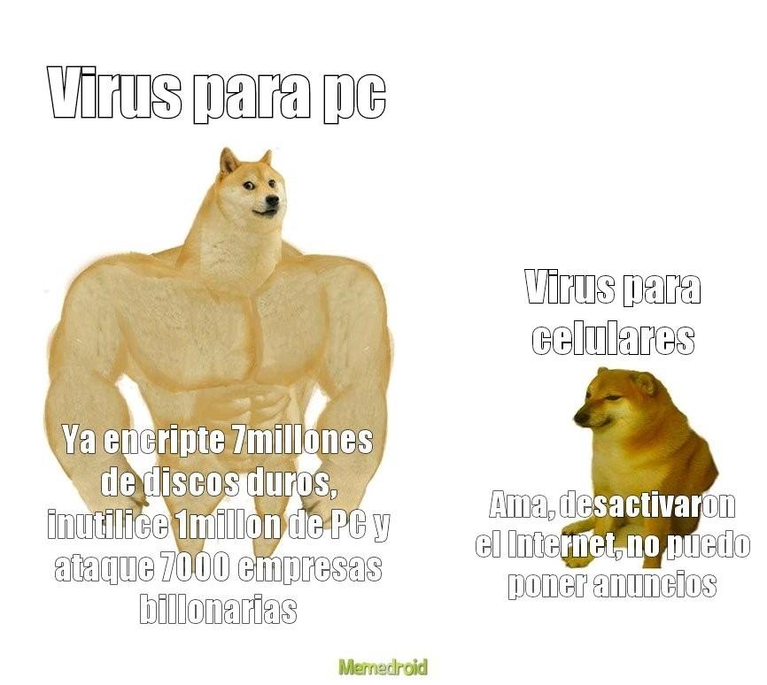 Virus de enserio - meme