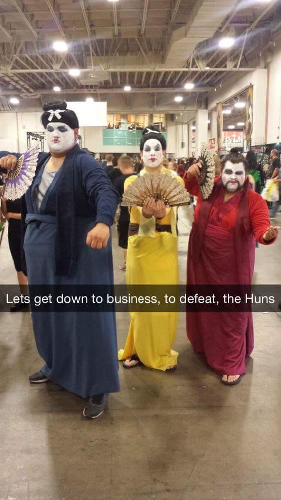 Real men sword fight in dresses! - meme
