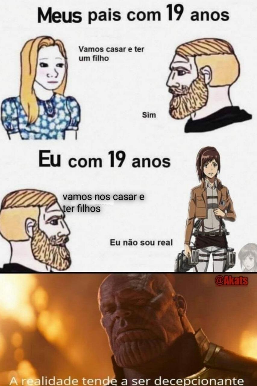 Realidade triste - meme