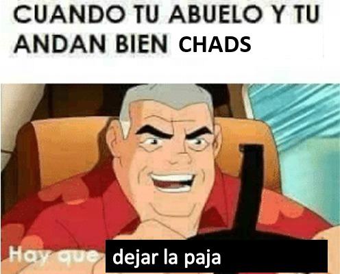 Abuelo chad - meme