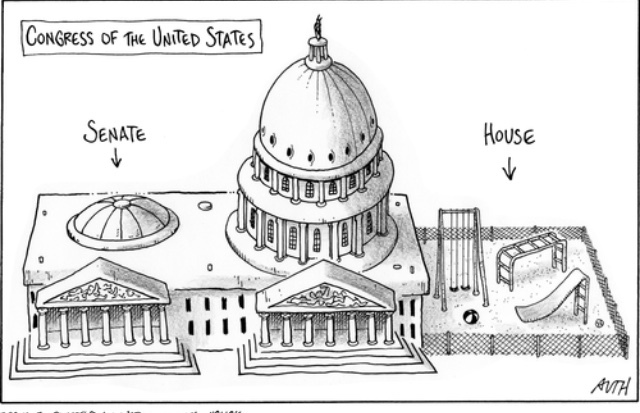 how our legislative branch really works, please don't be those uneducated hillbillies who don't know a simple social study lesson in school about the 3 branches of government. if not then ummm, something something - meme