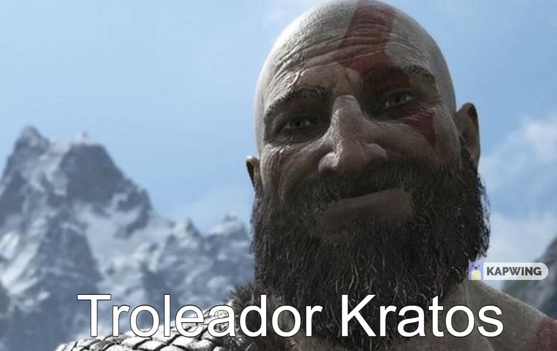 Troleador Kratos - meme