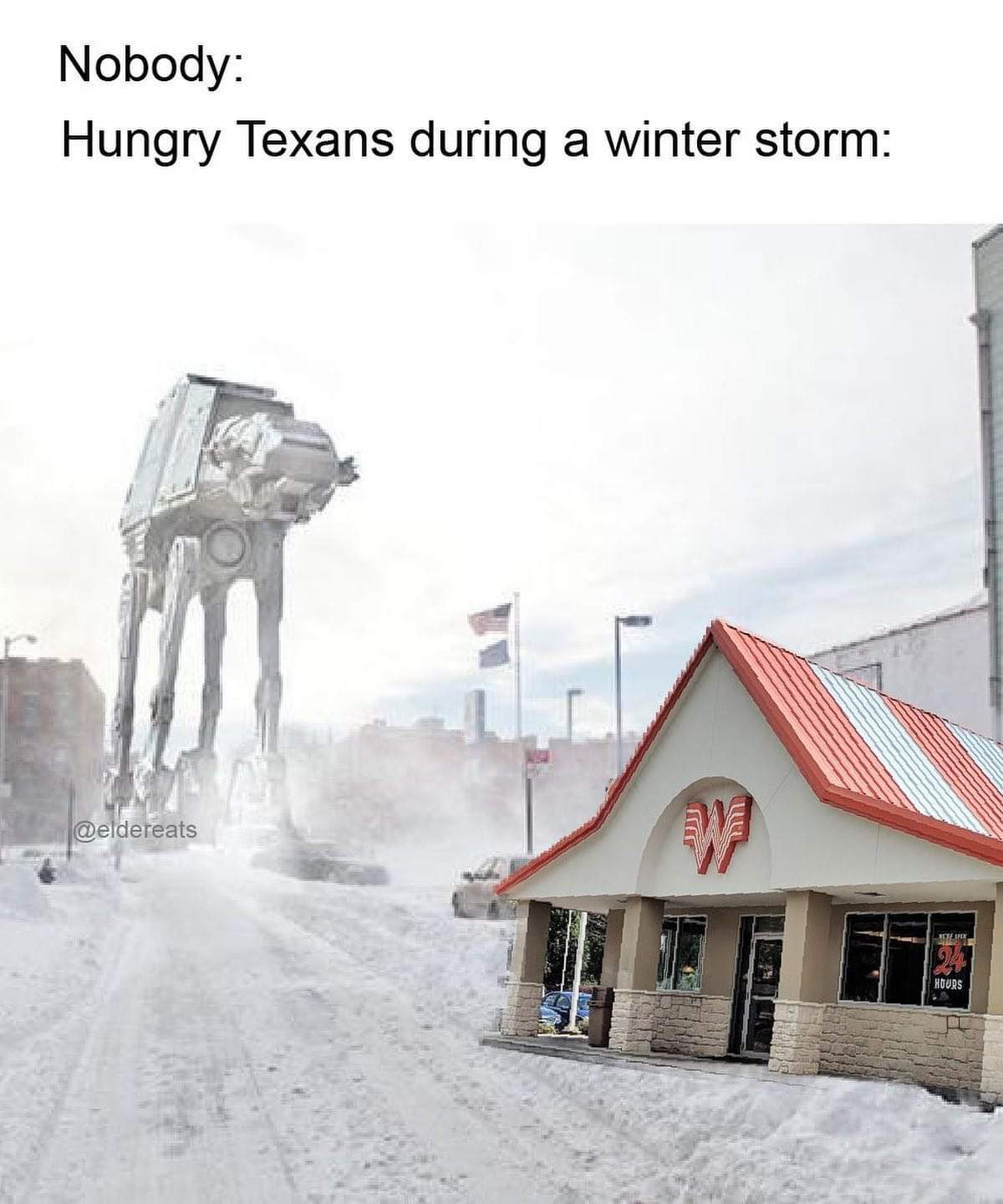 This coming from a hungry Texan! - meme