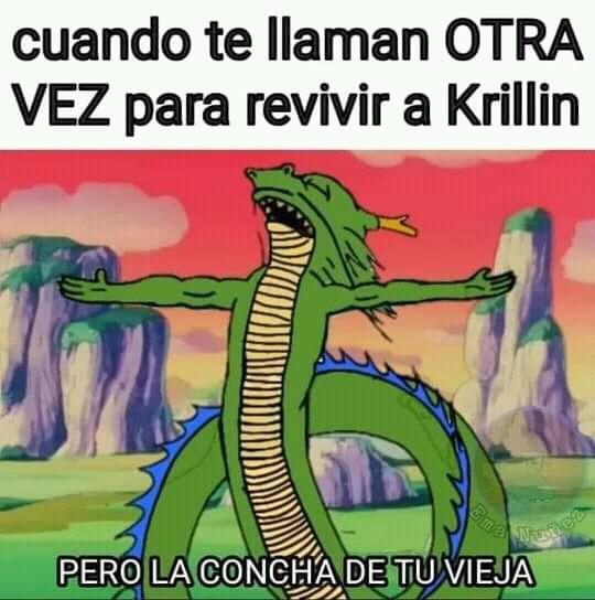 Oh no Mataron a Krillin - meme