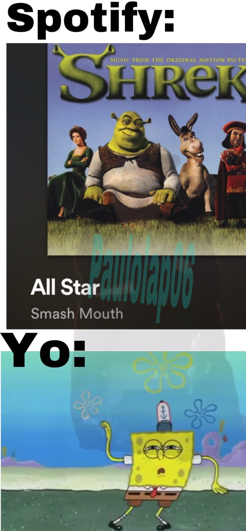 *Hey now you're an all star* - meme