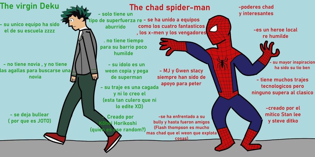 Créditos a lukeskyfreddy por la idea de compararlos - meme