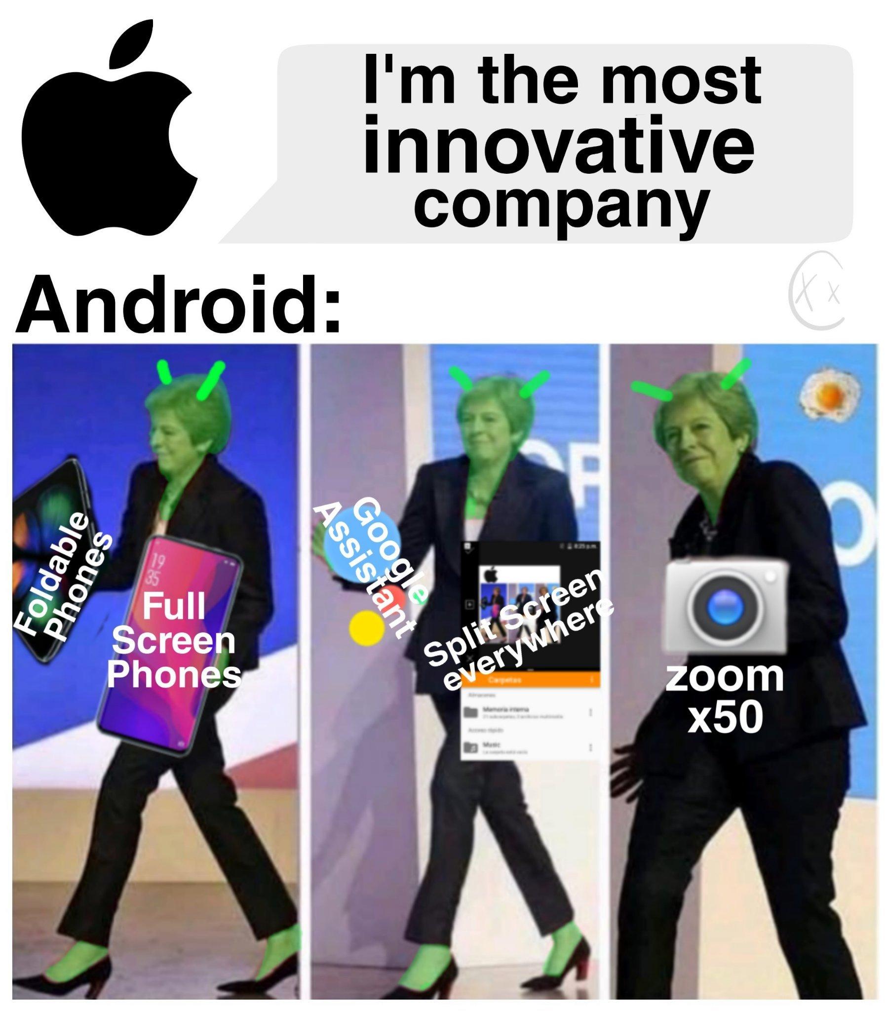 Apple was innovative - meme