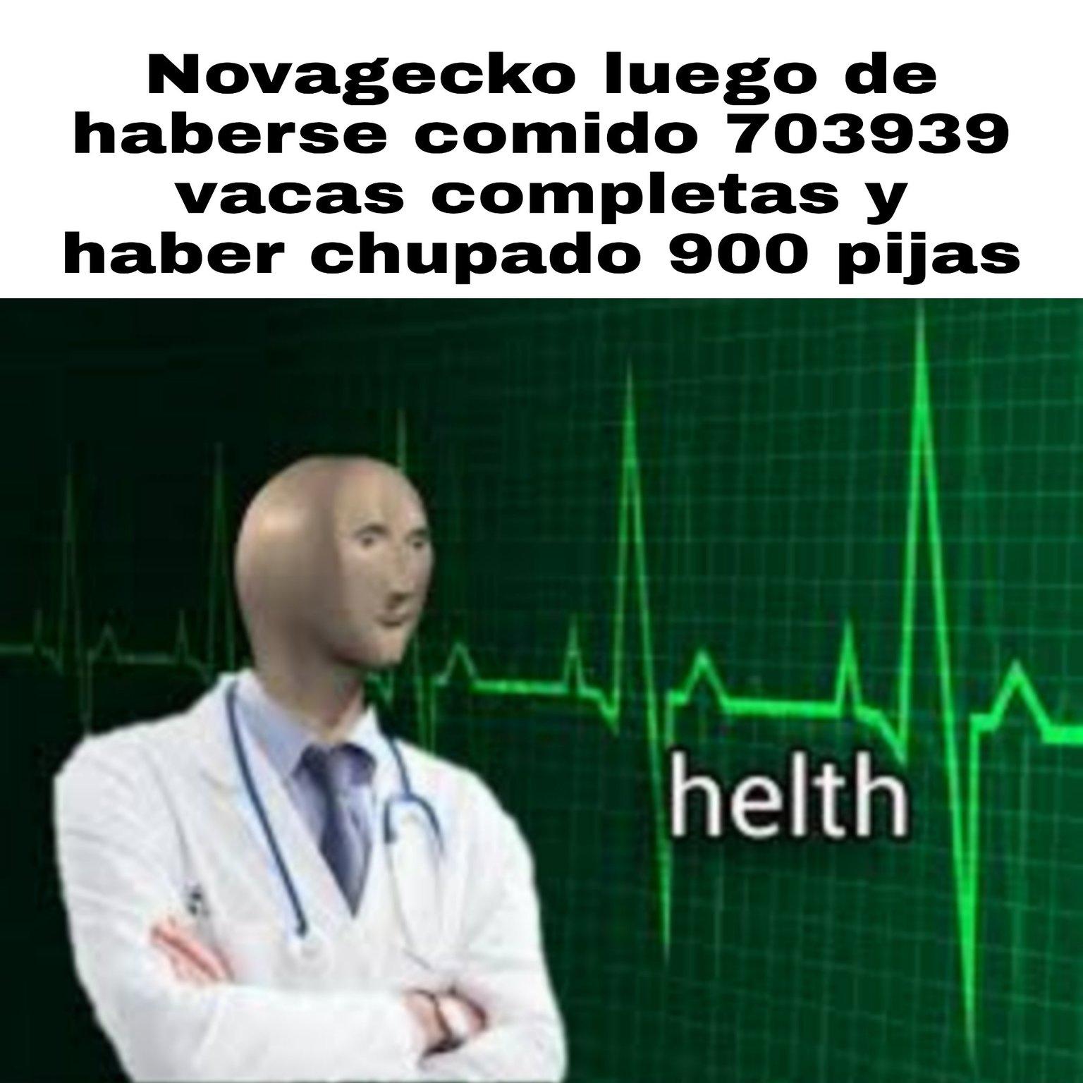 Novagarka y su dieta diaria - meme