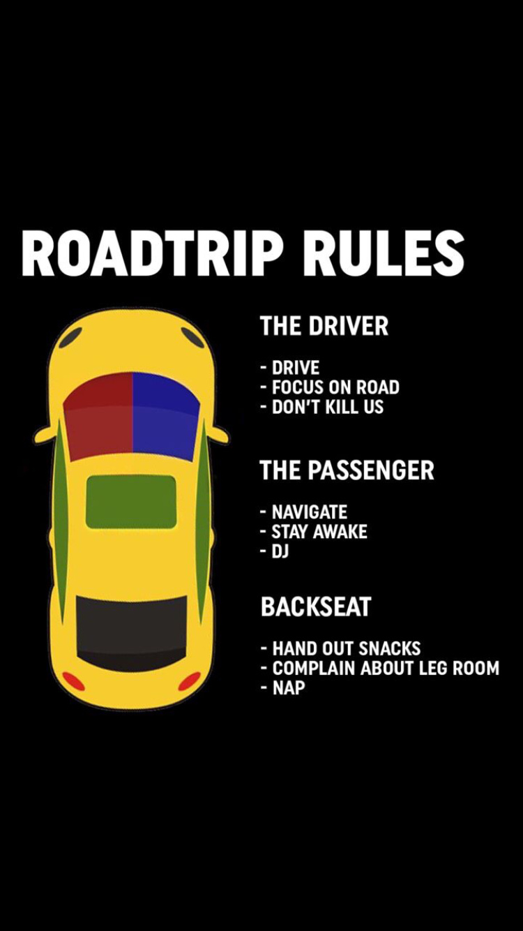 Roadtrip rules - meme
