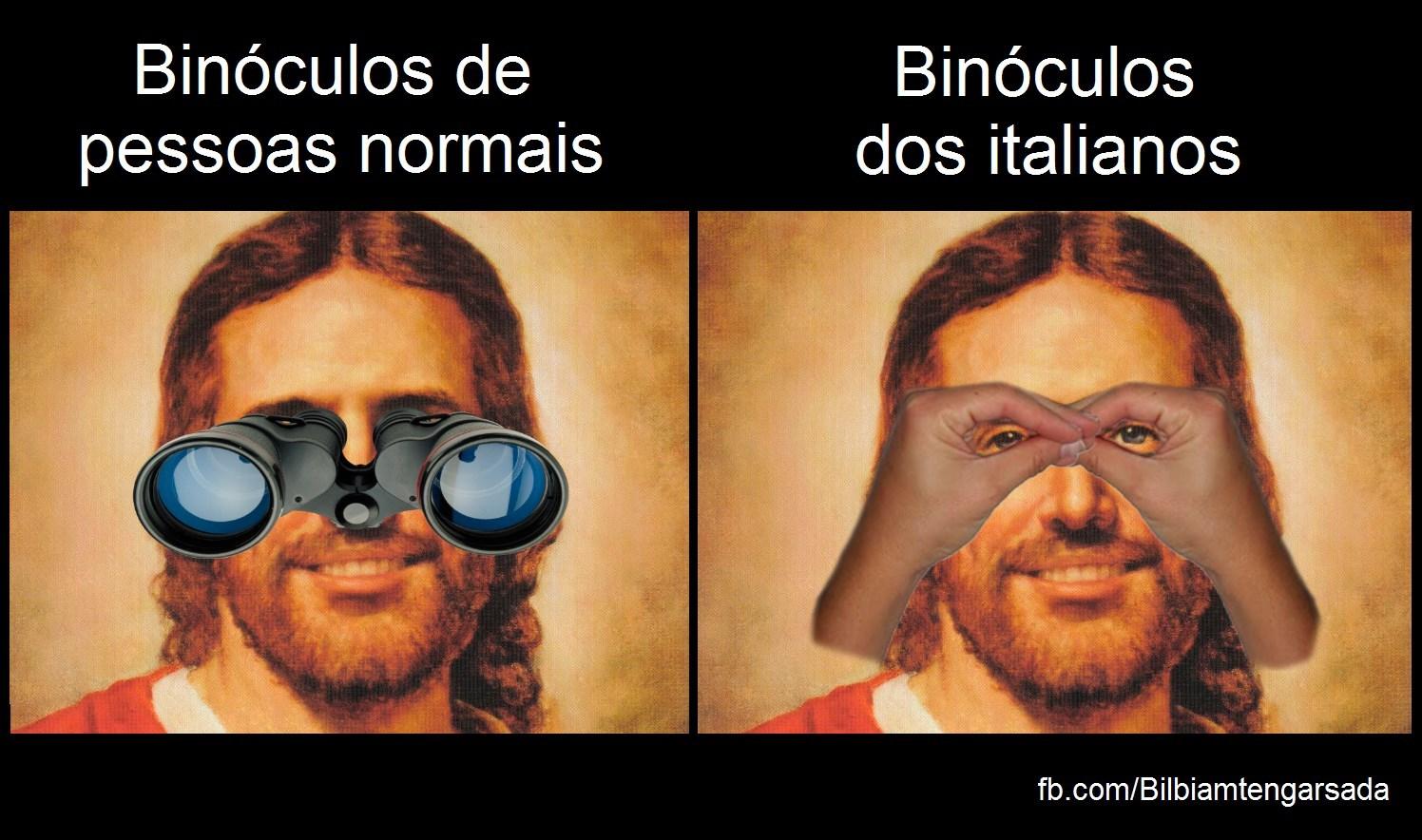 Binoculos em Italia - meme