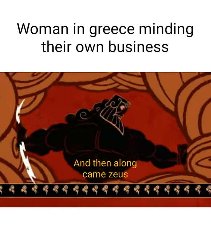 Welcome to Greek mythology, I'll be your guide. - meme