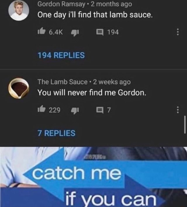 Gordon Ramsay vs The Lamb Sauce - meme