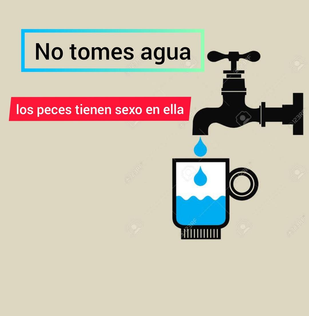 No temen agua - meme