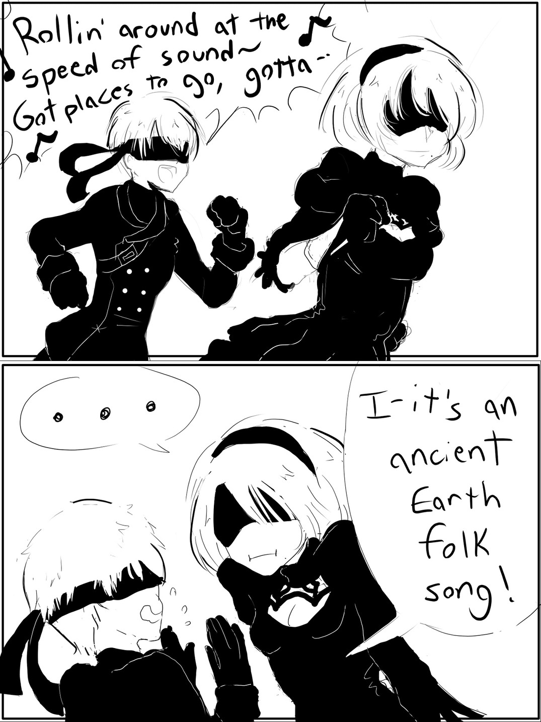 2b's butt saved Platinum games - meme