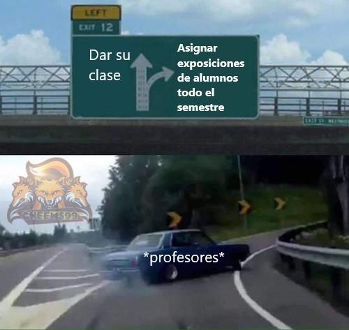 Típico de las clases virtuales xd - meme