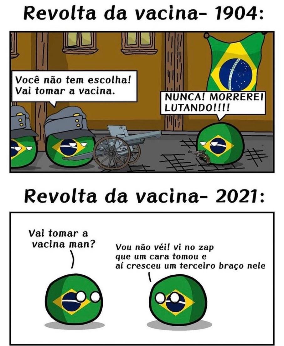 A revolta da vacina 2022 - meme