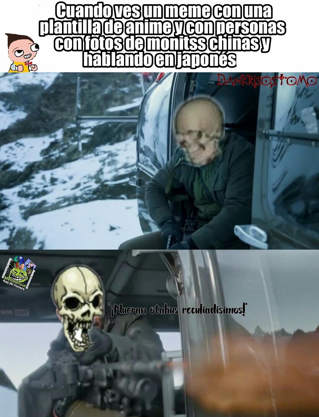 Misión anti otakus - meme