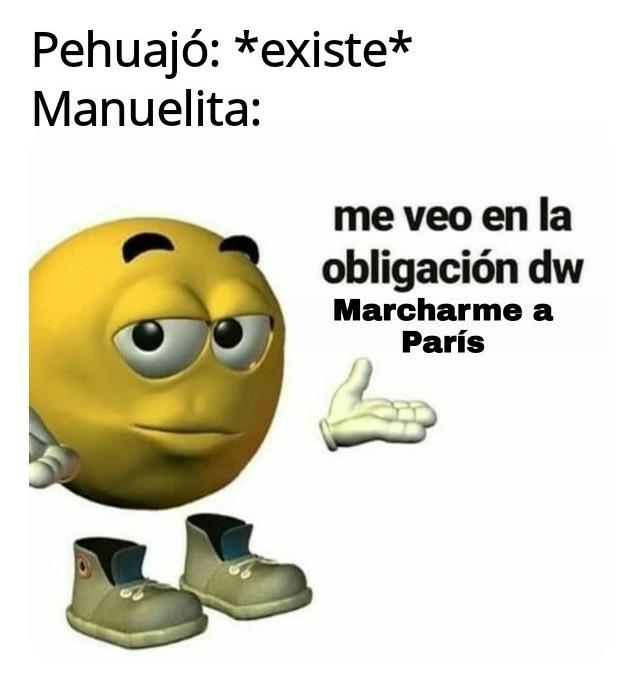 Manuelita vivia en pehuajo - meme