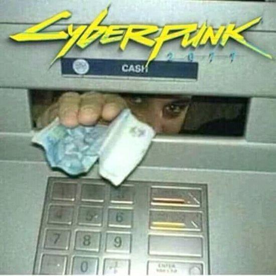 Asi seran los cajeros en cyberpunk 2077 - meme