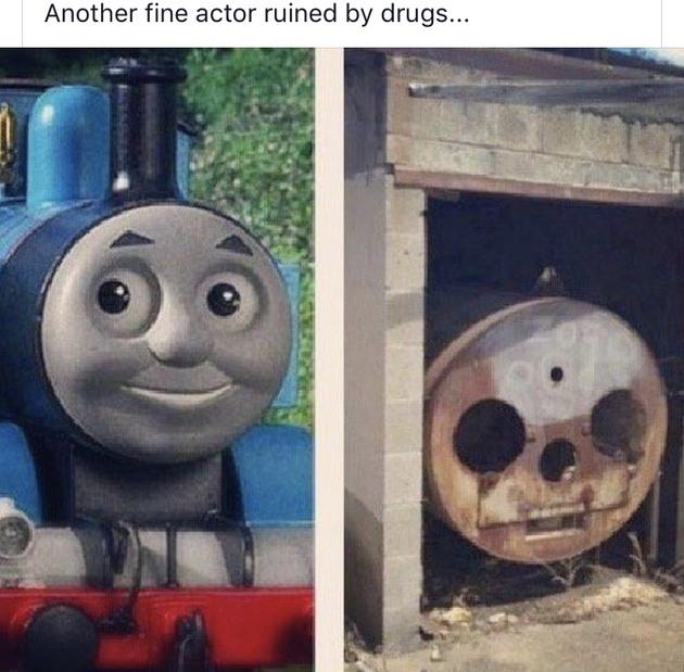 Thomas the drug engine - meme