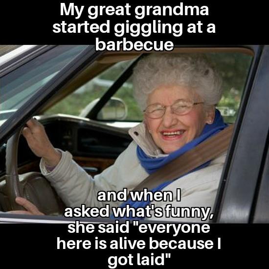 Savage gran - meme