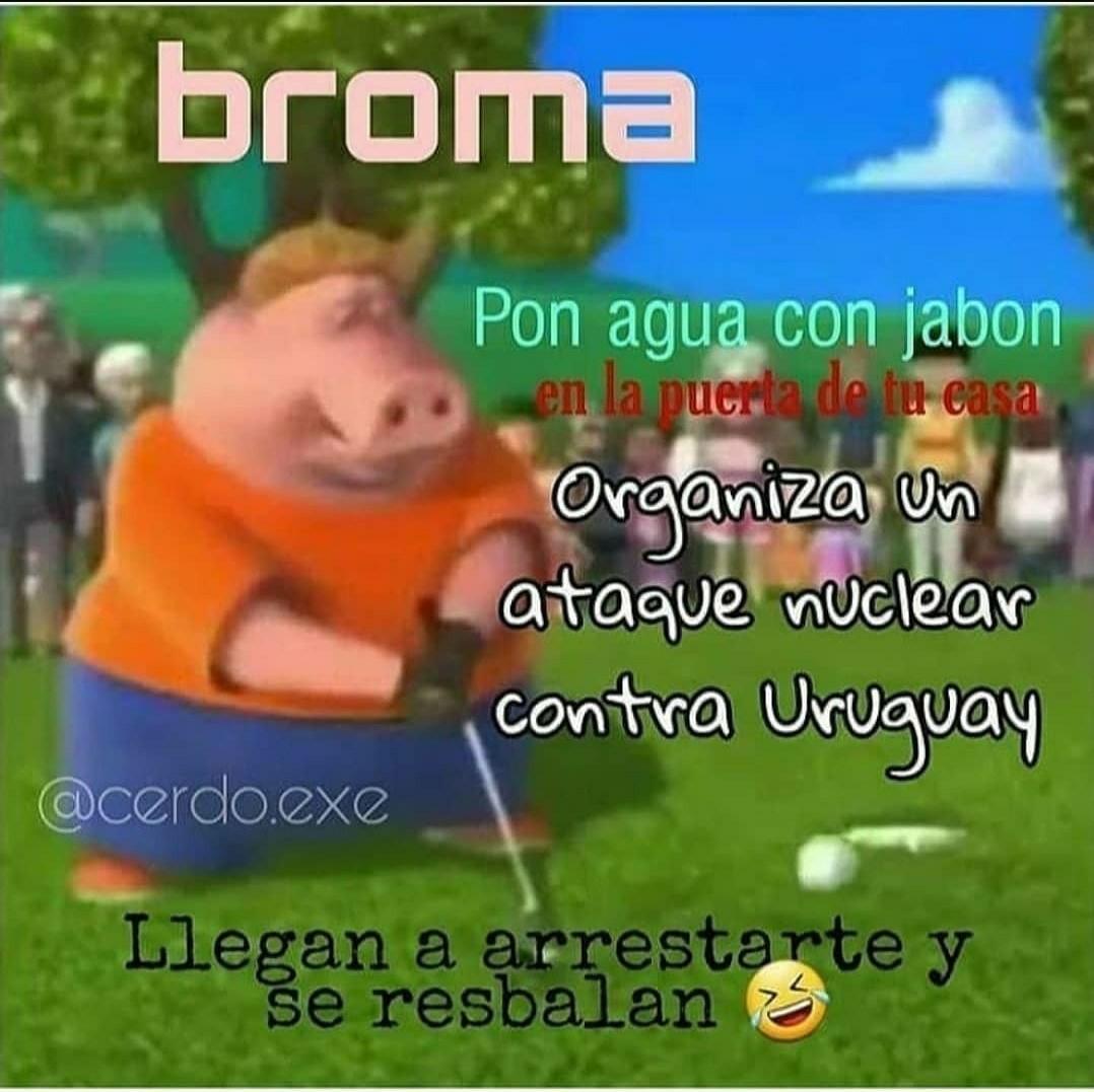 El titulo estaba en uruguay - meme