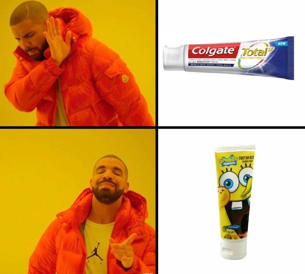 Esponja colgate - meme